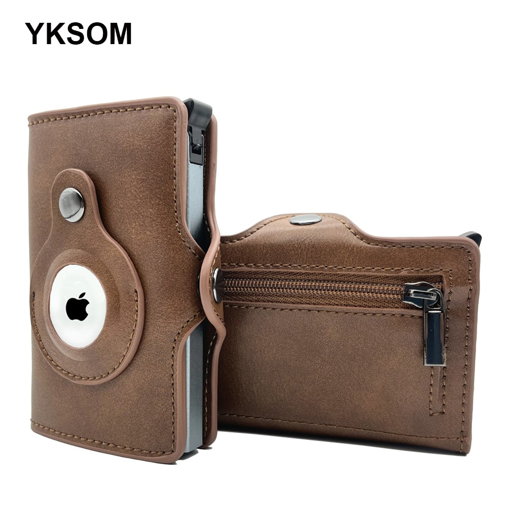 Airtag Wallet Luxury Leather Card Bag For Apple AirTags Tracker Anti-lost Protective Cover Men Women