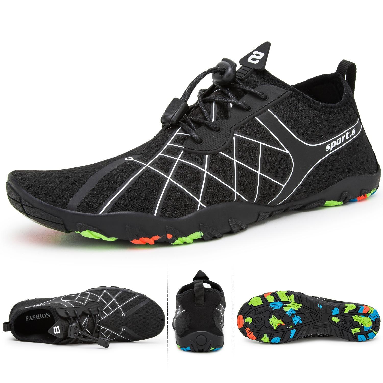 Zapatos de agua de verano para hombre, sandalias de playa para aguas arriba, de secado rápido Zapatillas para hombre, zapatillas de agua para hombre, calcetines de baño para buceo, Zapatillas para hombre