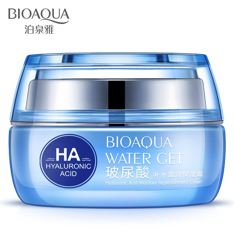 50g Moisturizers Replenishment Cream Hyaluronic Acid Day Face Skin Care Whitening Skin HA Anti Aging Anti Wrinkles Free shipping