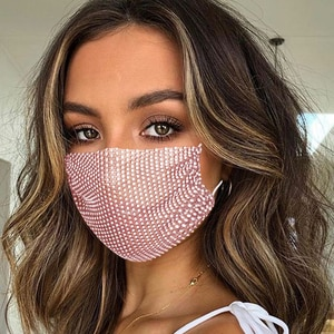 2021 Sexy Crystal Face Mask Rhinestones Fashion Costume Jewelry For Women Glitter Mouth Mask For Masquerade Party Nightclub
