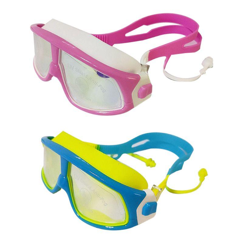 Gafas de natación galvanizadas impermeables con marco grande para niños Phantom Junior con protección UV y piezas antiniebla