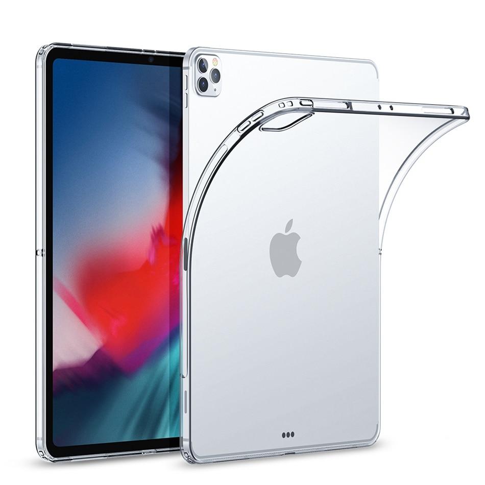 TPU Clear Case For iPad Pro 12.9 11 Case Mini 6 2021 Silicone Transparent Ultra Thin Cover For iPad