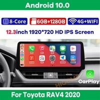 12 3 8core android 10 car multimedia player radio gps navigation for toyota rav4 2020 with carplay wifi 4g lte bt touch sceen
