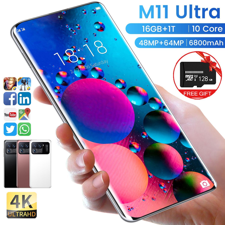 Оригинальный смартфон mi M11 Ultra 16 + 1T, Android, 6800 мАч, Qualcomm Snapdragon 888, 4G/телефон с двойной картой, разблокированные мобильные телефоны, сотовые телеф... михаил адаменко мобильные телефоны подключение к пк разблокирование эксперименты с sim картой