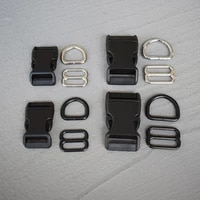 1 set 2025mm backpack plastic buckle quick side release buckle for bag luggage outdoor backpack strap belt webbing lether craft