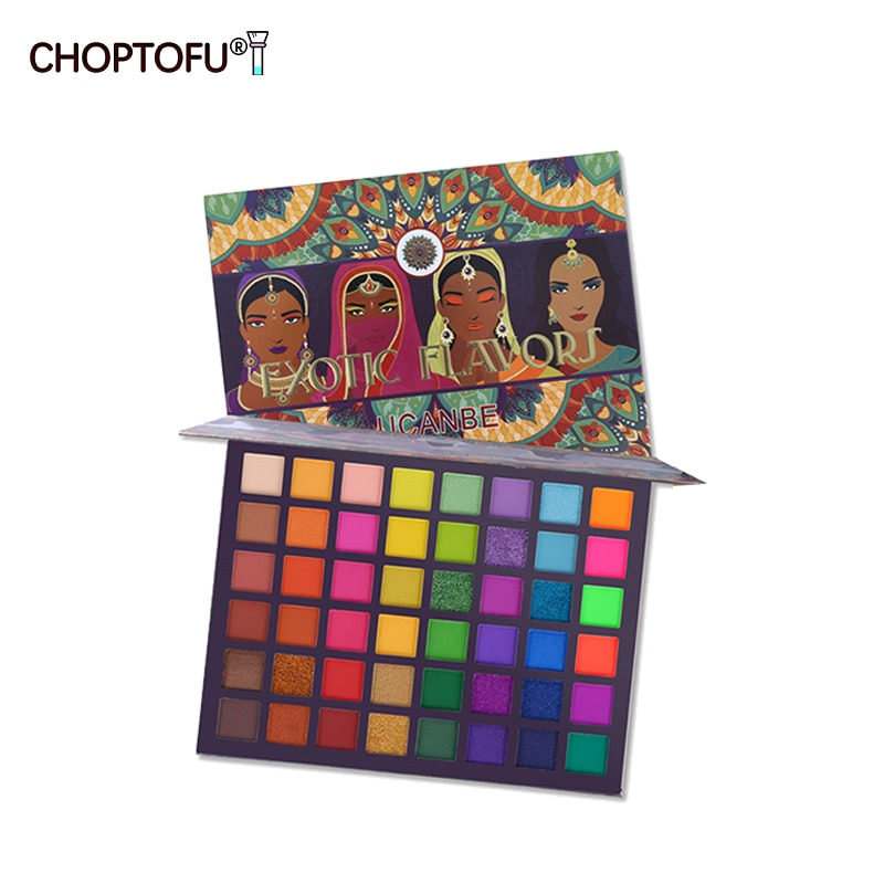 Fashion 48 Colors Eyeshadow Palette Exotic Flavors Shimmer Matte Eyeshadow Glitter Metallic Makeup P