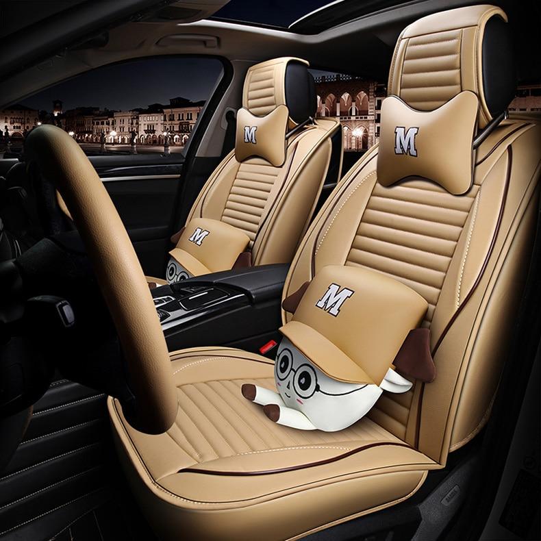 Cubierta universal de asiento de coche de cuero para auto audi a3...