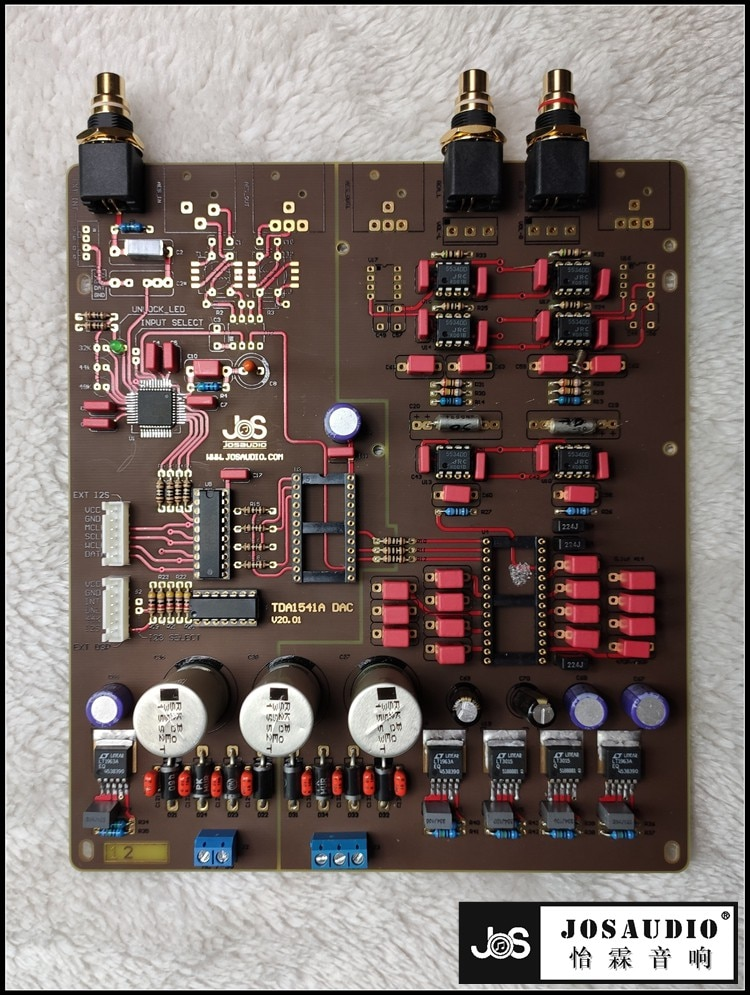 TDA1541, placa de decodificador de DAC, producto Semi-terminado
