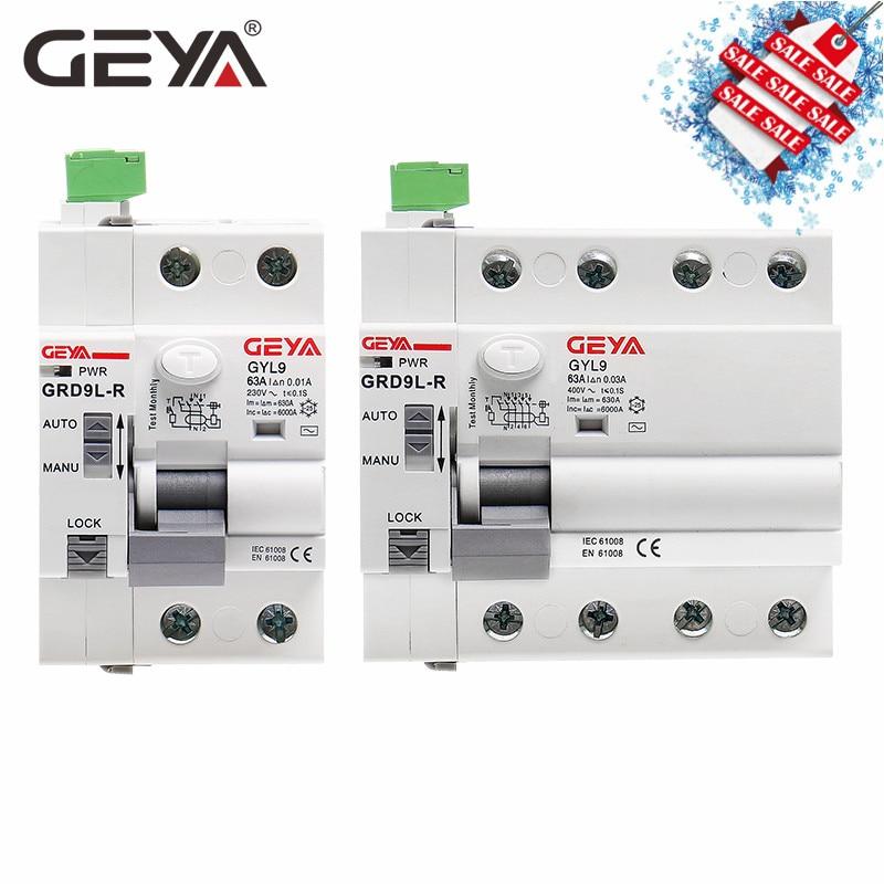 Free Shipping GEYA GRD9L Magnetic RCCB Self Recloser Circuit Breaker Remote Control Circuit Breaker 40A 63A Smart  Breaker