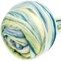 lmdz 100g multicolor fluffy soft hand spinning woolen 100 pure wool fiber dyed wool for needle felting diy materials