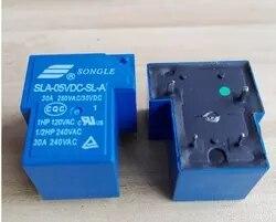 10 PÇS/LOTE HOT NEW 5V relé SLA-05VDC-SL-A SLA-5VDC-SL-A SLA05VDCSLA T90 05VDC 05V DC05V 30A 250VAC SONGLE DIP5 dip4