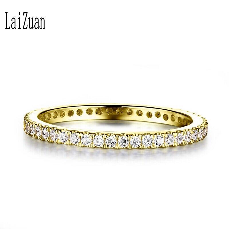 0.33ct moissanite anel sólido 10k ouro amarelo vvs/def cor laboratório crescido diamante moissanite anel feminino banda eterna completa jóias