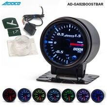 """2 """"52mm 7 Farbe LED Elektrische Auto Bar Turbo Boost Gauge Meter Mit Sensor und Halter AD-GA52BOOSTBAR"""