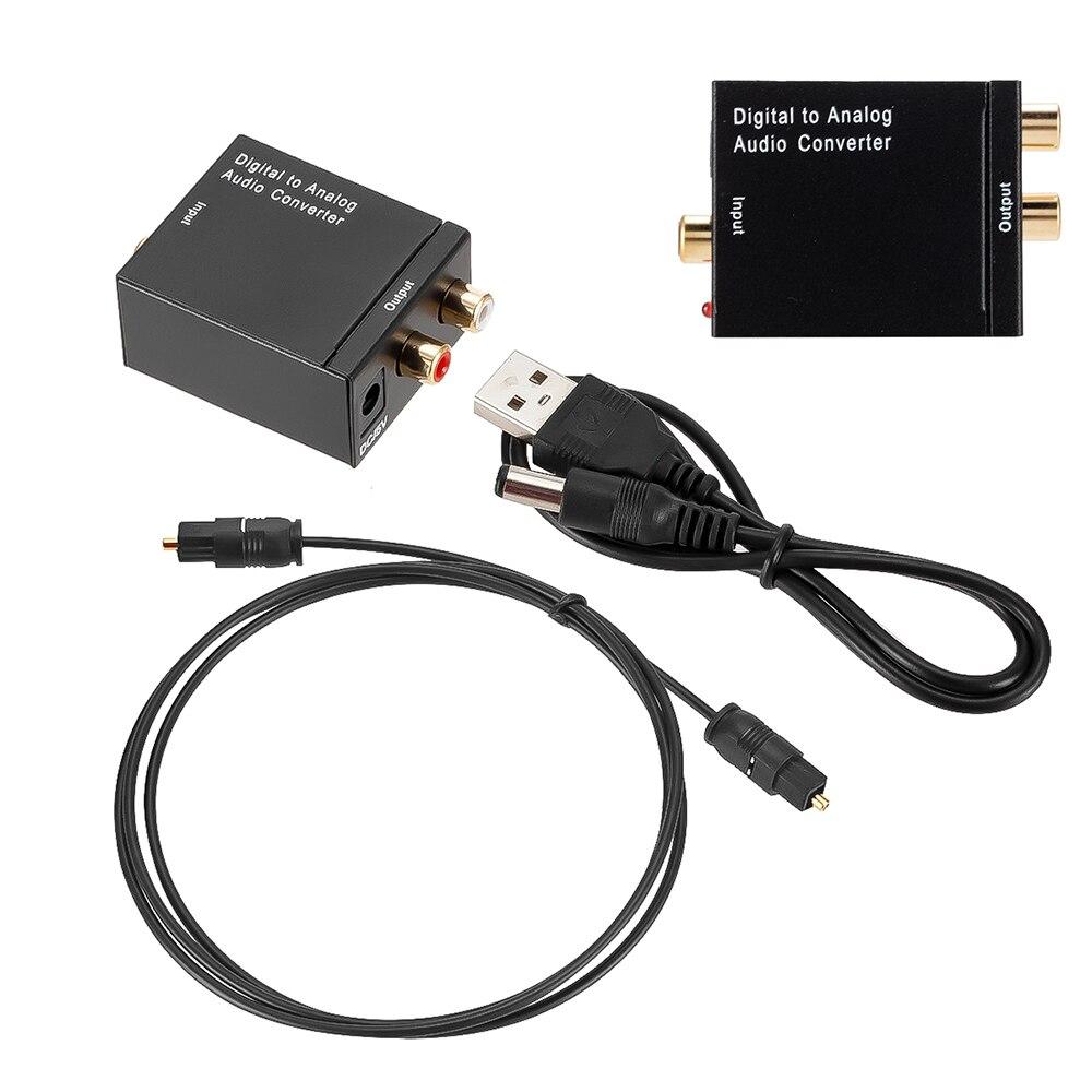3.5mm optique numérique stéréo Audio SPDIF Toslink Signal Coaxial à convertisseur analogique DAC Jack 2 * RCA amplificateur décodeur adaptateur
