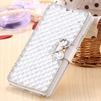 women luxury pu leather flip wallet cover for iphone 11 pro max 7 8 plus x xr xs max phone case with diamond protective shell