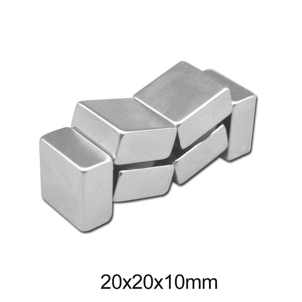 1/2/5/10/20 pièces 20x20x10mm recherche Quadrate aimant 20mm * 20mm Stong aimants 20x20x10mm puissant néodyme magnétique 20*20*10