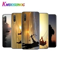 hunting fishing for xiaomi mi11 10t note10 ultra 5g 9 9t se 8 a3 a2 6x pro play f1 lite 5g transparent phone case
