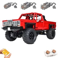new 2021 diy small particle building block moc super remote control suv assembled toy model childrens christmas birthday gift