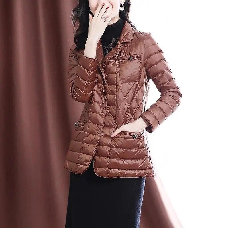 Chaqueta corta de algodón para Mujer, chaquetas de algodón ligeras a la...