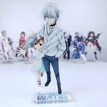 Anime  Toaru Kagaku no Railgun A Certain Magical Index Misaka Mikoto Accelerator Acrylic Stand Figure Cosplay Desk Decor 15cm
