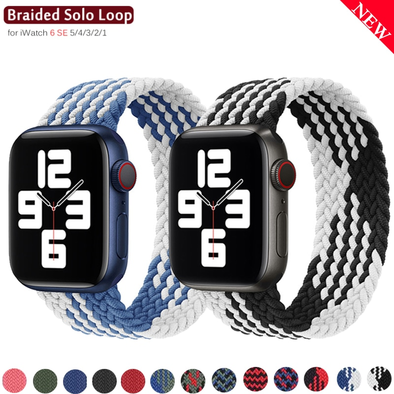 1 1 offical strap for apple watch series 6 5 se 4 braided solo loop 40mm 44mm woven watchbands for iwatch 3 2 1 38mm 42mm strap Braided Solo Loop Nylon fabric Strap For Apple Watch band 44mm 40mm 38mm 42mm Elastic Bracelet for iWatch Series 6 SE 5 4 3 2 1