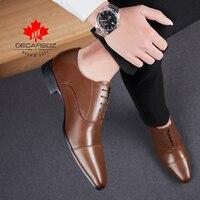 Men Dress Shoes Men 2021 Autumn Fashion Formal Shoes Man Casual Leahter Footwear Office Lace-Up New Brand Designed Men Shoes