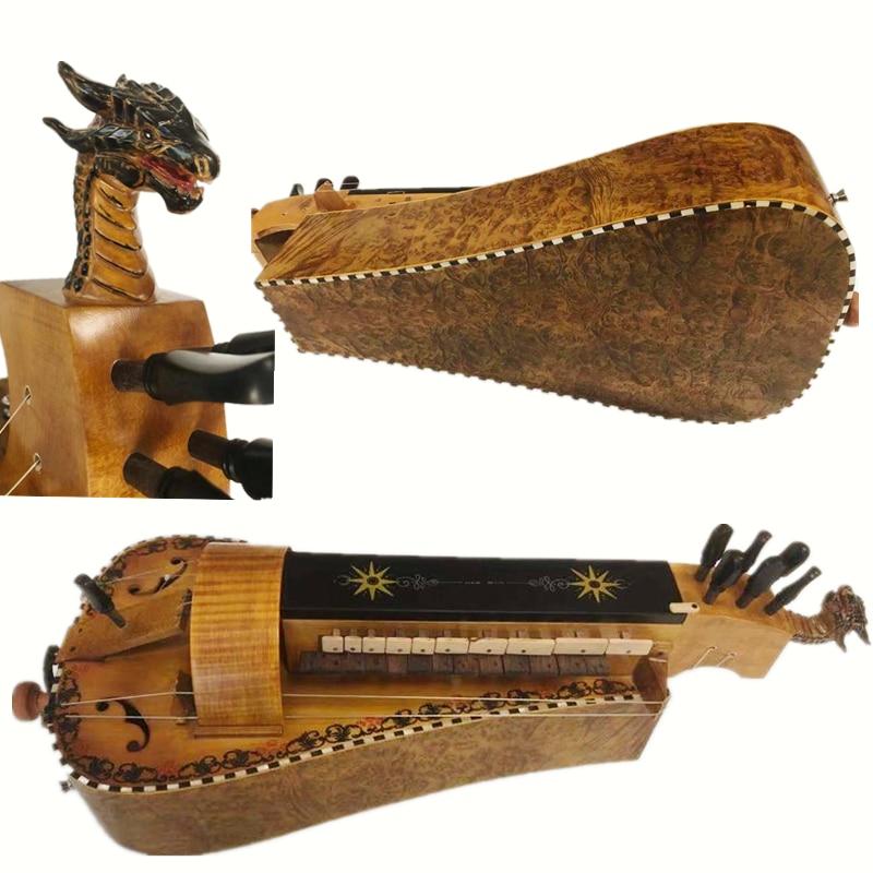 Carcasa de madera con incrustación de ojo de pájaro, perrera tallada, 6...