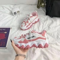 shoes for women 2021 platform shoes breathable mesh cool lace up casual sports footwear chunky sneakers woman vulcanize shoes