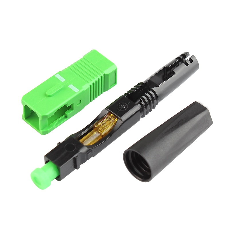 100PCS Supply pre-embedded FTTH SCAPC single fiber optic SCAPC quick connector FTTH Fiber Optic Fast Connector Free shipping enlarge
