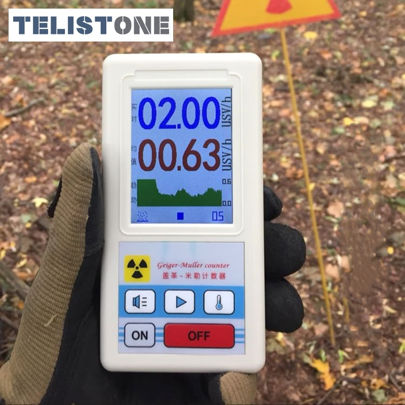 Professional Nuclear Radiation Detector Geiger Counter Handheld Personal Dosimeter Marble Detectors Beta Gamma X-ray Tester