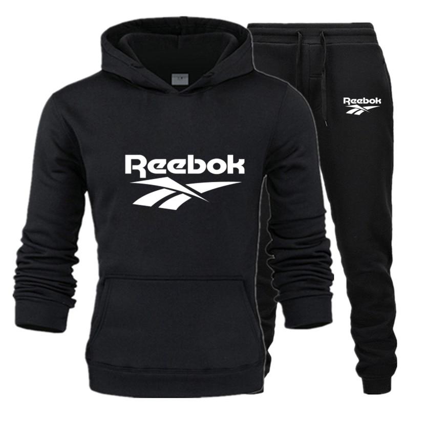 Костюм спортивный мужской теплый, кофта с капюшоном и штаны, Длинный свитшот, повседневная одежда