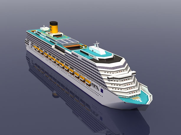 Barco crucero Costa Pacifica, rompecabezas de papel 3D, modelo de bricolaje Manual, papercraft Toy