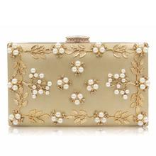 HOTSell New Arrive Flower Women Evening Bags Fashion Beaded Clutch Bag Female Wedding Clutches Purse