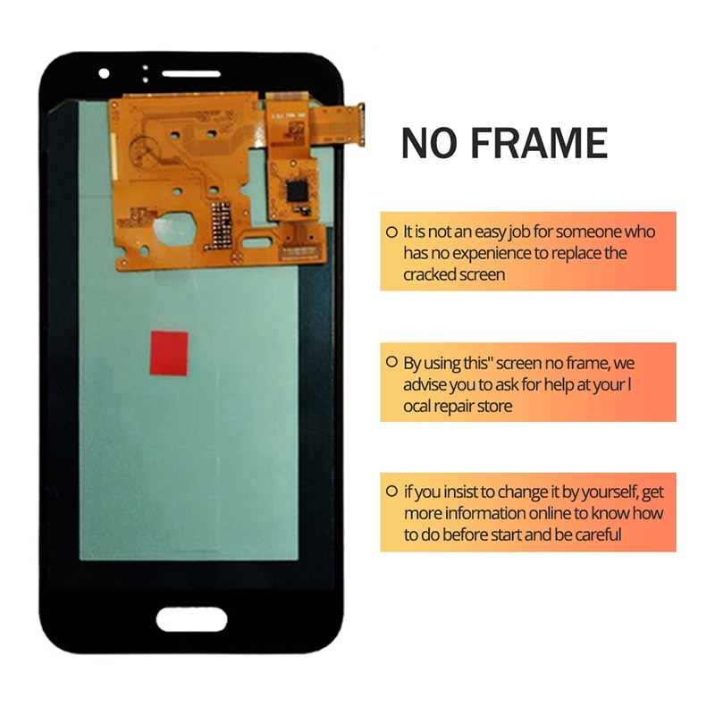 For Samsung Galaxy J1 2016 OLED LCD Display Touch Screen Digitizer Assembly On SM J120F J120H J 1 2016 120F Sm-J120F 100% Test enlarge