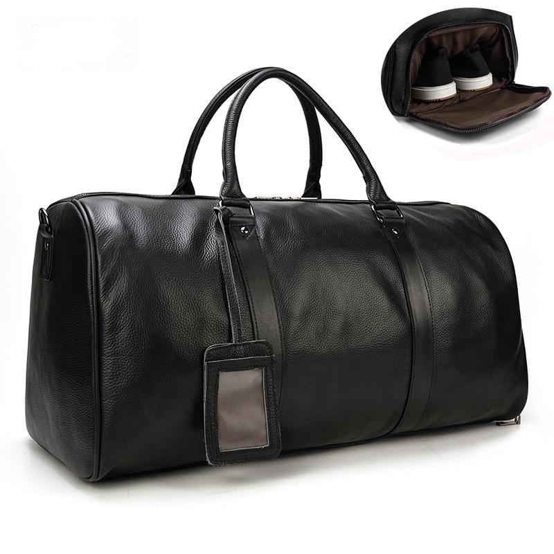 чехол на чемодан 18316 s 55 см Дорожная сумка из натуральной воловьей кожи для мужчин, водонепроницаемый чемодан для выходных, деловой чемодан для мужчин, 55 см