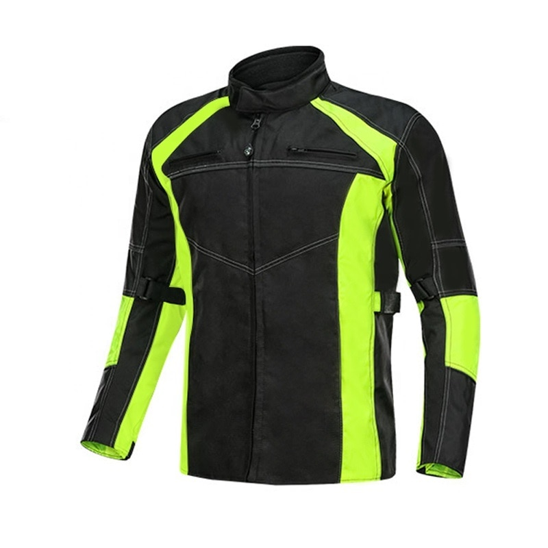 جاكيت دراجة نارية عاكس مقاوم للماء ، جلد ، مسامي ، لسباق الدراجات النارية ، جديد