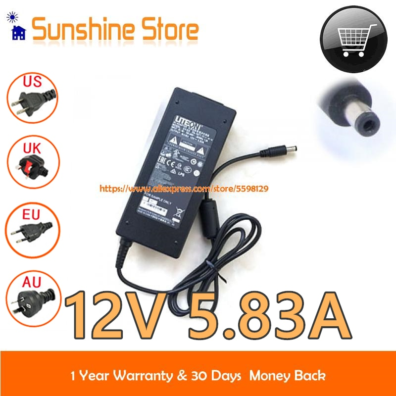 Adaptador de CA genuino Liteon PA-1071-11 12v 5.83A fuente de alimentación 70W adaptador de portátil PA107111 adaptador