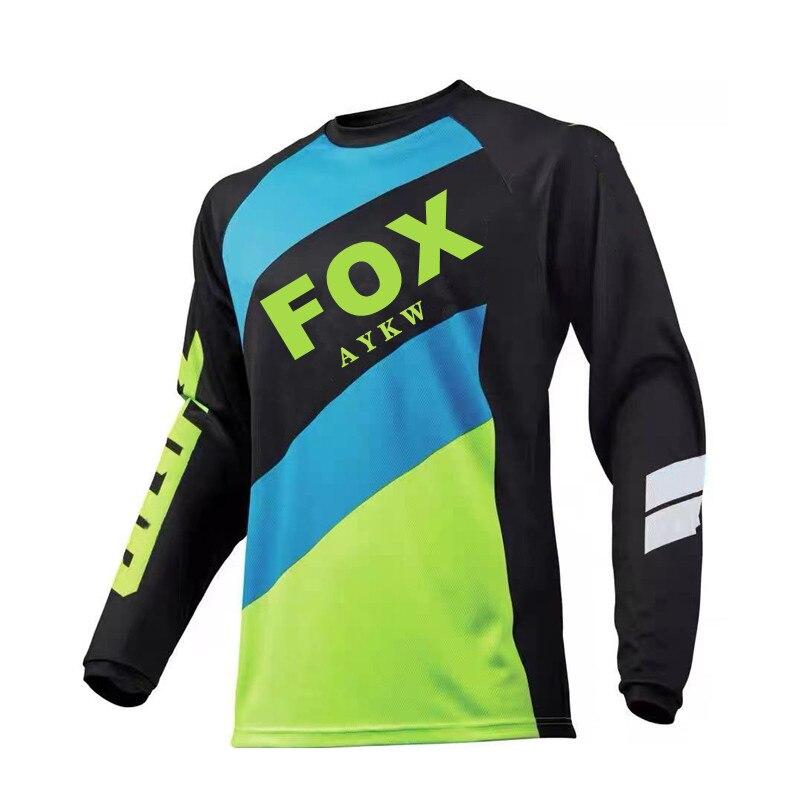 Jersey de bicicleta en descenso para hombre, camiseta de manga larga para...