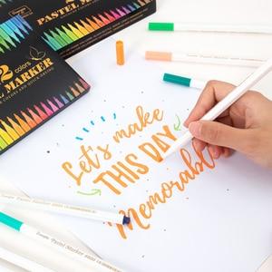 Guangna 6800 new acrylic pastel pen 36/24/12 color marker pen set painted ceramic decoration DIY photo album black card photo