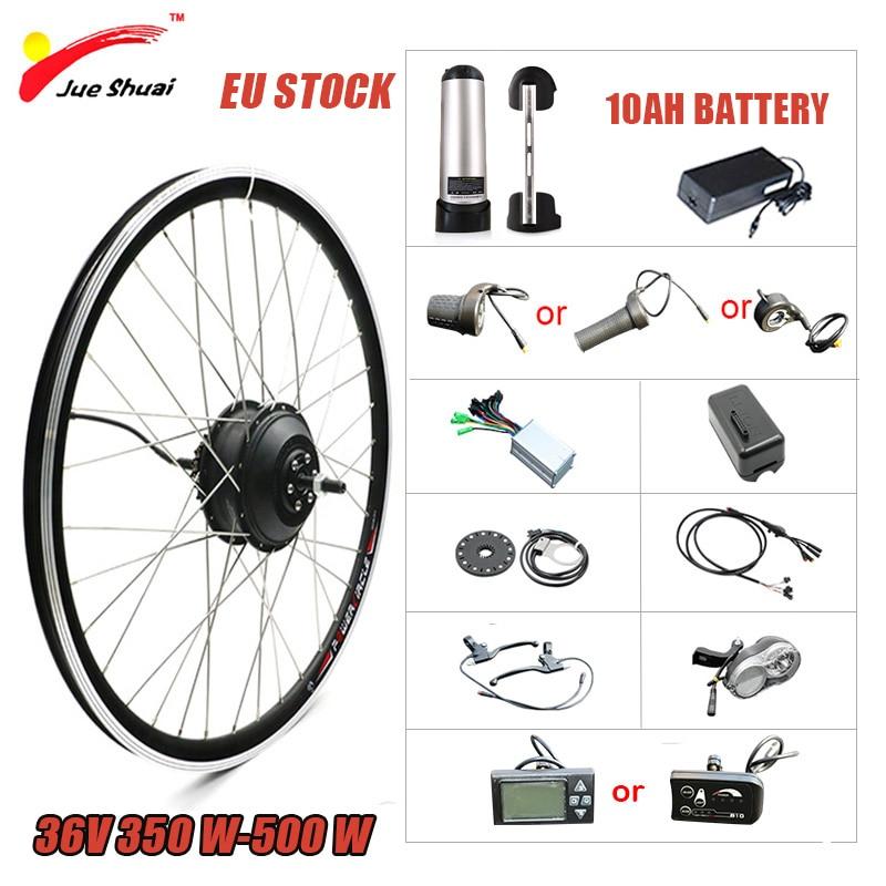 Kit de conversión de Bicicleta eléctrica, 36V, 250W-500W, 20