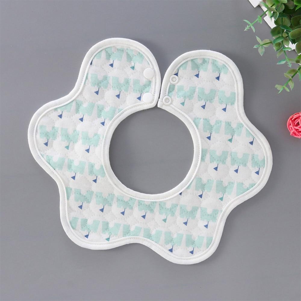 Baberos de bebé recién nacido de algodón de tres pisos giratorios de 360 grados de alta calidad, bonita toalla impermeable suave y cómoda para Saliva