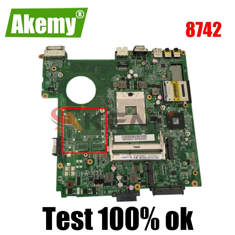 AKEMY لوحة أم للكمبيوتر المحمول توشيبا الأقمار الصناعية 8742 DAZQ3JMB8A0 HM55 DDR3 اللوحة الرئيسية