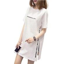 T-shirts femme harajuku femme T-shirts style coréen T-shirt femme décontracté à manches courtes T-shirt Long Style femmes t dessus de chemise