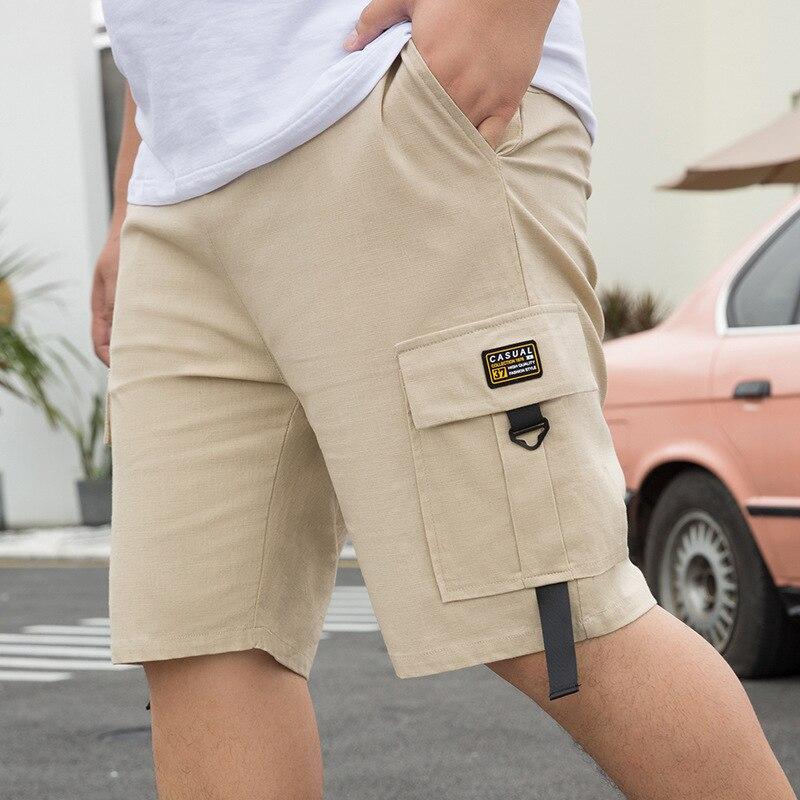Мужские повседневные шорты в Корейском стиле, Классические мужские шорты с большими карманами, лето 2021