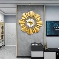 gold luxury large fashion wall clock classic vintage nordic european design metal wall art reloj de pared room decor bk50bg