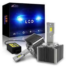 AILEO мини 1:1 CAN-BUS 6500K холодный белый D1S D1R D2S D2R D3S D3R D4S D4R автомобилей головной светильник лампы 110W 25000LM авто светильник светодиодный комплект обн...