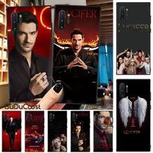 LvheCn Lucifer Morningstar TV Black TPU Soft Phone Case Cover For Samsung Galaxy Note3 4 5 7 8 9 10 Pro M10 20 30 A3 2 310 6 7