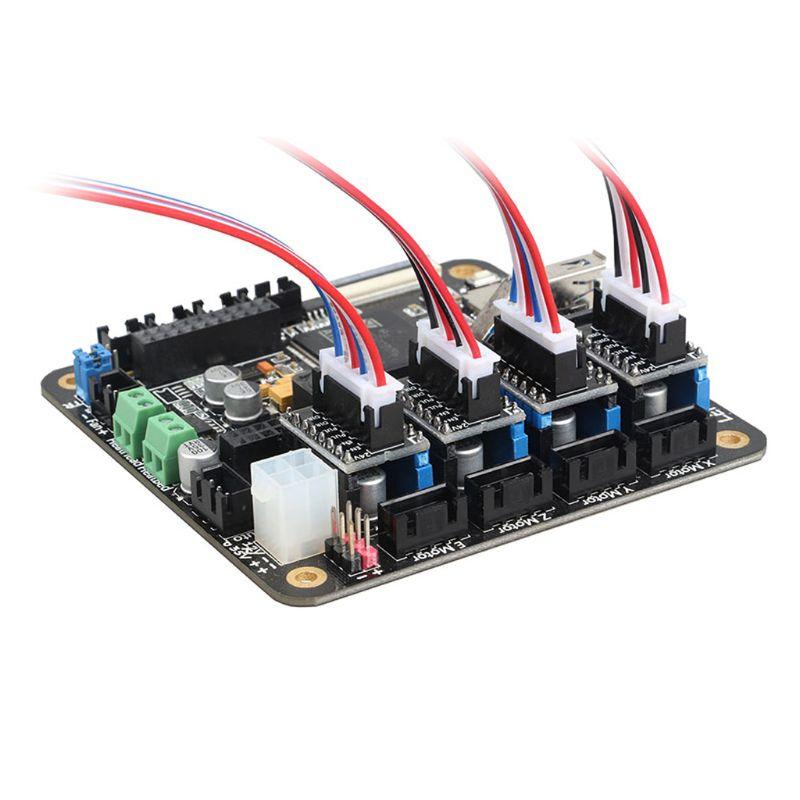 Placa do adaptador da impressora 3d módulo de comutação de alta potência externa para o driver de microstep para lerdge placa de impressora 3d qx2b