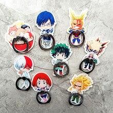 Accesorios de Cosplay de Anime My Hero Academia, accesorios de utilería Midoriya Izuku Bakugou Todoroki, hebilla de anillo giratoria para teléfono móvil