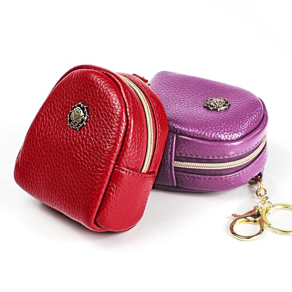 Fashion Women Coin Purse Genuine Leather Female Mini Wallet